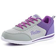 Feminino-Tênis-Conforto Solados com Luzes-Plataforma-Azul Rosa Roxo-Tule-Ar-Livre Escritório & Trabalho Casual