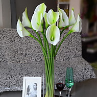 Set of 1 PCS 1 Branch Polyester Calla Lily Tabletop Flower Artificial Flowers 28