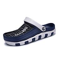 男性-アウトドア カジュアル-チュール-フラットヒール-穴の靴-サンダル-ブラック ブルー レッド