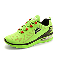 Men's Comfort Air Cushion Tulle Outdoor Athletic Flat Heel Lace-up Running Shoes