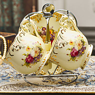 1PC  Coffee Cup And Saucer Set Features Vintage Ceramic Mug