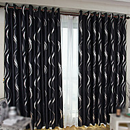 To paneler Window Treatment Moderne Stue Polyester Materiale Blackout Gardiner Hjem Dekor For Vindu