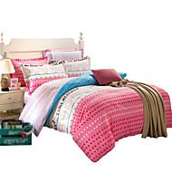 私は自分の家を愛しツイン/クイーンサイズのベッドのための100%コットンツイル縞模様3個のシートセット