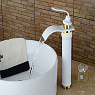 Contemporary Centerset Waterfall with  Ceramic Valve Single Handle One Hole for  Painting , Bathtub Faucet