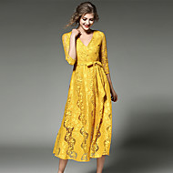 MAXLINDY Women's Lace Going out / Party / Holiday Vintage / Street chic /Midi Lace Dress