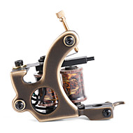 solong costume tatuagem máquina de bronze tatuagem arma artesanal 12 envoltório bobinas de cobre puro para m202-1 liner
