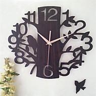 Autres Autres Horloge murale,Rond Carré Bois 34*34 Intérieur Horloge