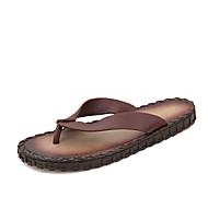 Γυναικεία παπούτσια-Παντόφλες & flip-flops-Ύπαιθρος Καθημερινό-Επίπεδο Τακούνι-Ανατομικό-Μικροΐνα-Μαύρο Μπλε Καφέ