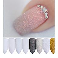 2g/Box Holographic Nail Glitter Powder Shining Sugar Nail Glitter Dust Powder Nail Art Decorations Set