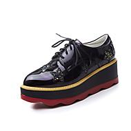 Oxford-kengät-Creepers-Naisten-Kiiltonahka-Musta Sininen Violetti Valkoinen-Toimisto Puku Rento-Comfort