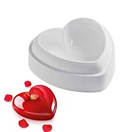 Molde Coração Para Bolo Para Chocolate Silicone Bricolage 3D Alta qualidade Anti-Aderente Ecológico Dia dos namorados