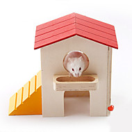Rodents Hutches Toy House Wood Multicolor