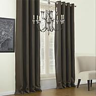 ワンパネル 現代風 純色 マルチカラー リビングルーム ポリエステル 遮光カーテンドレープ