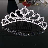 Girls Lovely Fashionable Europe And The United States Han Edition Big Diamond Crown Princess Hair Comb