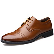 Men's Shoes Leather Spring Summer Fall Winter Fashion Boots Comfort Oxfords Lace-up For Casual Office & Career Party & Evening Outdoor