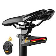 Zadní světlo na kolo bezpečnostní světla LED Laser Cyklistika Dálkové ovládání Stmívatelná Dobíjecí Ultra lehké Batterie lithium Lumenů
