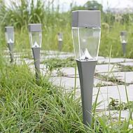 2pcs gardern gramado via de decoração lâmpadas paisagem levou luz branca lâmpada de inserção sentido terreno energia solar