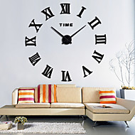 Large Roman Wall Clock Acrylic Mirror Diy Clocks Home Decoration Living Room Wall Stickers Modern Design