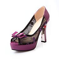 Femme-Mariage Décontracté Soirée & Evénement-Noir Violet Vert-Talon Aiguille-Confort Chaussures brodées club de Chaussures-Sandales-Tulle
