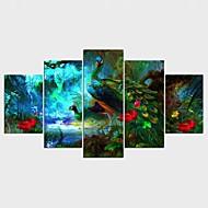 Humor Pejzaże Zwierzę Styl Nowoczesny,Pięć paneli Płótno Wszelkie Kształt Art Print wall Decor For Dekoracja domowa