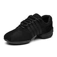 Customizable Women's Dance Shoes Fabric Fabric Modern Sneakers Flat Heel Practice Beginner Professional Indoor Outdoor PerformanceBlack