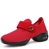 Chaussures de danse(Noir Rouge Blanc) -Non Personnalisables-Talon Bas-Tissu-Baskets de Danse