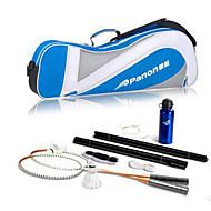 Raquettes de Badminton Volants de plumes Filet de Badminton Badminton Posts and Net Haute élasticité Durable Métal 1 Pièce pourIntérieur