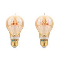 E26/E27 Izzószálas LED lámpák A60(A19) COB 400 lm Meleg fehér Dekoratív AC 220-240 V 2 db.