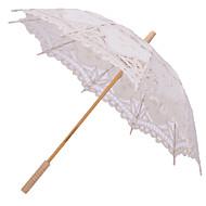 """חתונה חוף יומי תחרה כותנה מטרייה ידית עמוד 26""""(כ-66 ס""""מ) עץ 30.7""""(כ-78 ס""""מ)"""