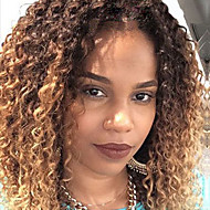 Two Tone Ombre T1B/27# Lace Front Human Hair Wigs Kinky Curly Hair 130% Density Brazilian Virgin Hair Glueless Lace Front Wigs For Black Woman