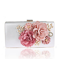 L.WEST Woman's South Korea's handmade flowers female bag luxury banquet dinner hand bag bag