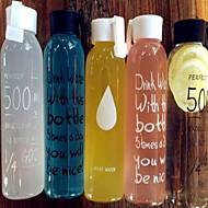 Transparent Gehen Party Trinkbecher, 500 ml Transportabel Glas Saft Getränk mit Kohlensäure Glas