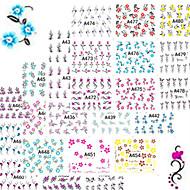 1set 48pcs Стикер искусства ногтя Вода Передача Переводные картинки макияж Косметические Ногтевой дизайн