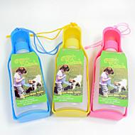 Katze Hund Schalen & Wasser Flaschen Haustiere Schüsseln & Füttern Tragbar rot blau gelb Kunststoff