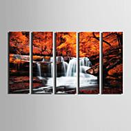 Landschaft Modern,Fünf Panele Leinwand Vertikal Druck-Kunst Wand Dekoration For Haus Dekoration