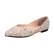 Women's Flats Spring Summer Other Light Soles Leather Wedding Office & Career Party & Evening Dress Casual Flat Heel SequinBlack Pink