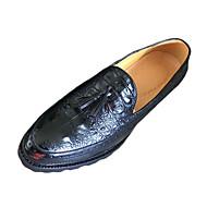 Черный КоричневыйДля прогулок-Полиуретан-На плоской подошве-Удобная обувь-Туфли на шнуровке