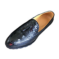 PU-Flat hæl-Komfort-Oxfords-Friluft-Svart Brun