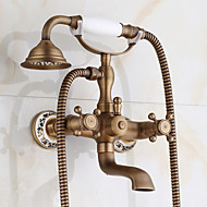 New Arrival Rain Shower Faucets With Ceramic Mixer Tap Antique Brass Bath Shower Faucet Set Bathtub Faucet