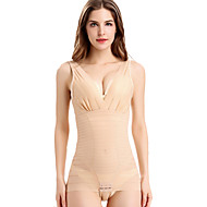 Women's Maternity Postpartum Slimming Sexy Shaping Jumpsuits Underwear Elasticity Nylon Spandex Beige/Black Overbust Corset