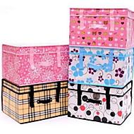 Коробки для хранения Единицы хранения Корзины для хранения Текстиль сОсобенность является С крышкой , Для Бельё Ткань