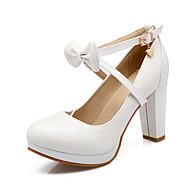 Club cipő-Vastag-Női cipő-Magassarkúak-Irodai Ruha Party és Estélyi-PU-Rózsaszín Fehér Ciánkék