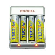 pkcell 8174 aaa aa ניקל קדמיום סוללת 1.2V 900mAh 5 חבילה