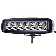 6 tuuman 18w johti työvalo bar lamppu ajo auto perävaunu moottoripyörä neliveto ATV Offroad auto 12-24V valokeilassa