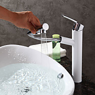 Contemporary Art Deco/Retro Centerset Pullout Spray with  Ceramic Valve Single Handle One Hole for  Painting , Bathroom Sink Faucet