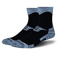 Sportsocken Herrn Socken Herbst Winter Atmungsaktiv warm halten Schweißableitend Komfortabel Dick Baumwolle Elastan ChinlonGrau