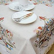 Négyzet Hímzett Asztalterítők , Vászon AnyagVacsora dekoráció Favor Lakberendezés Hotel étkezőasztal Lakodalom dekoráció Esküvői bankett