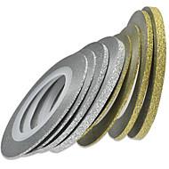 1set 8rolls Neglekunst klistremerke Folie Stripe Tape Sminke Kosmetikk Neglekunst Design