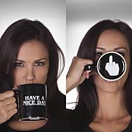 アイデアジュェリー コップ, 350 ml 単純な幾何学的パターン セラミック ヌード 牛乳 マグカップ