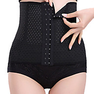 Maternity Postpartum Shaper Slimming Underwear Corset Girdle Hook Belt Waist Women's Sexy Nylon Beige/Black